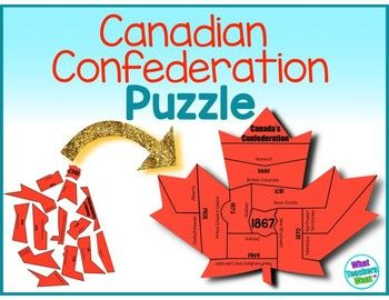 Learn and practice the important dates in Canadian Confederation with this puzzle.  Many students are surprised that Canada began with just 4 provinces and that a series of conferences and purchase made the map of Canada look like it does today.  This puzzle has 2 versions and both versions come in black and white and in colour.  1) Assembled on the page-this version also acts as the key for the puzzle   2) Scattered on the page — this version is good if you want students to assemble the…