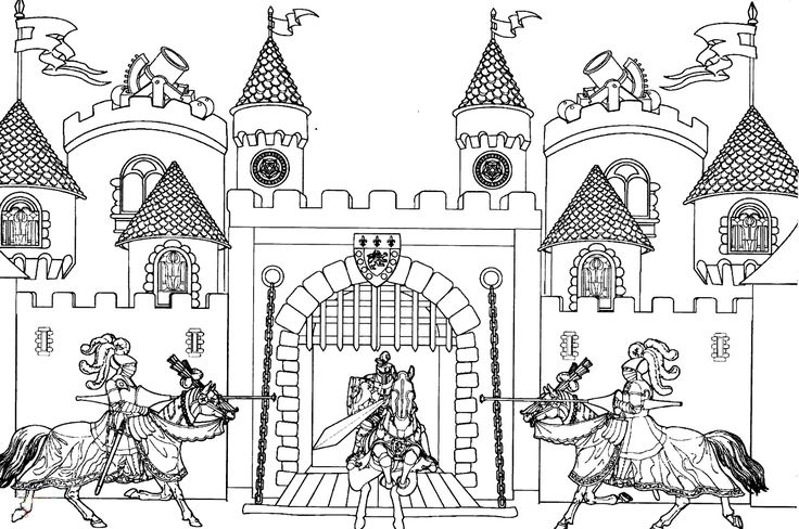 Medieval Activities For Kids Castle Coloring Page King Arthur S Castle Coloring Pages