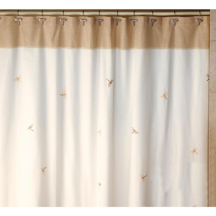 Dragonfly 70 In X 72 In 100 Cotton Nature Themed Shower Curtain In Natural And Tan Natural