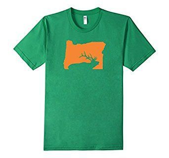 Amazon.com: OREGON STATE ELK HUNTING TEE SHIRT Front and Back Design: Clothing