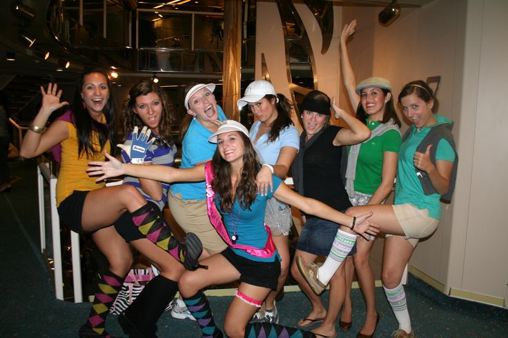 Bachelorette Party Golfer Theme, maybe we should do this since you are such a golfer now!!