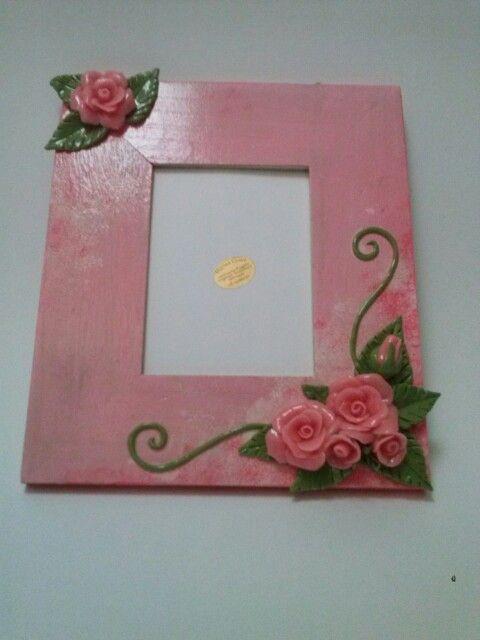 Cornice portafoto dipinta a mano realizzata con decoro realizzato a mano