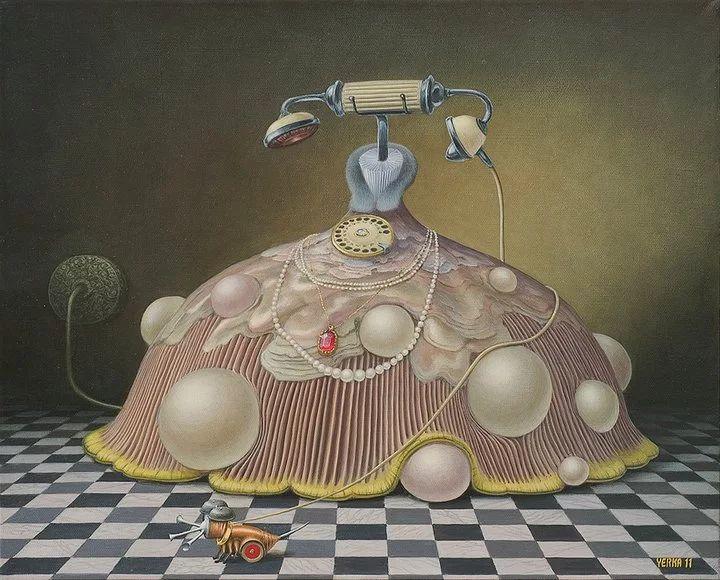Jacek Yerka 1952 - Polish Surrealist painter.