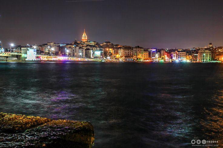 Octavian Serban: Galata Tower by night...