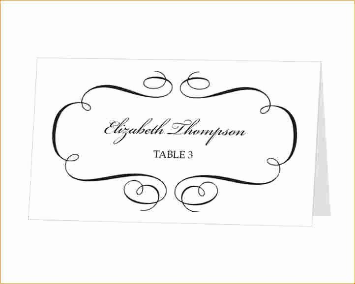 Professional Ms Word Place Card Template In 2021 Wedding Place Card Templates Free Place Card Template Place Card Template