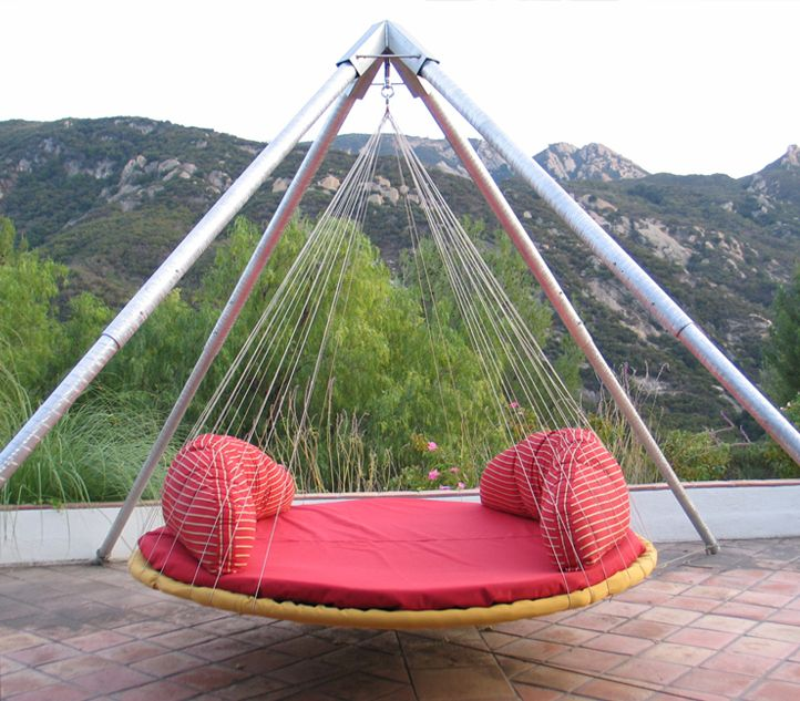 27 best beautiful spaces for dreaming images on pinterest for Outdoor hanging beds for sale