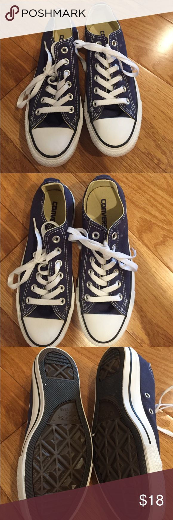 Navy converse Never been worn navy converse shoes Converse Shoes Sneakers
