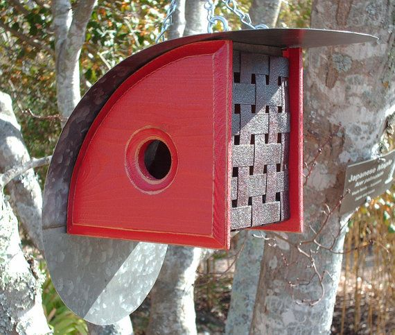 MikeMerrittArt - this guy has some beautiful & unusual birdhouses made from reclaimed barn metal & cedar