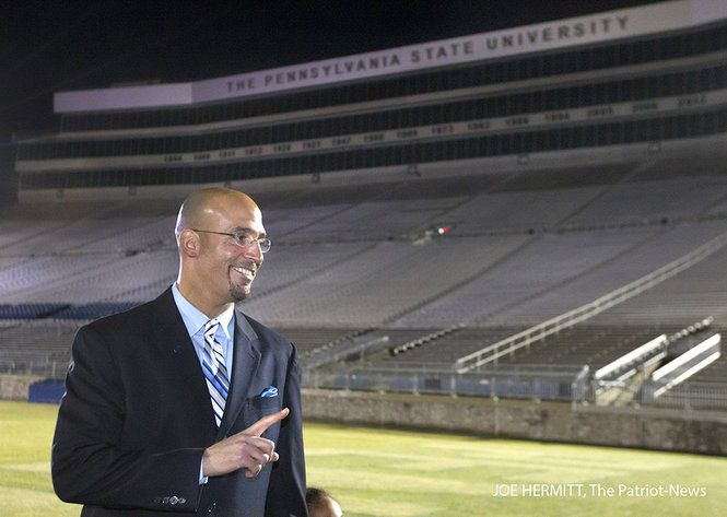 PENN STATE – FOOTBALL 2014 – James Franklin is officially introduced as the new Penn State football coach during a news conference at Beaver Stadium. Franklin replaces Bill O'Brien who left for the Houston Texans on December 31, 2013. Joe Hermitt, PennLive