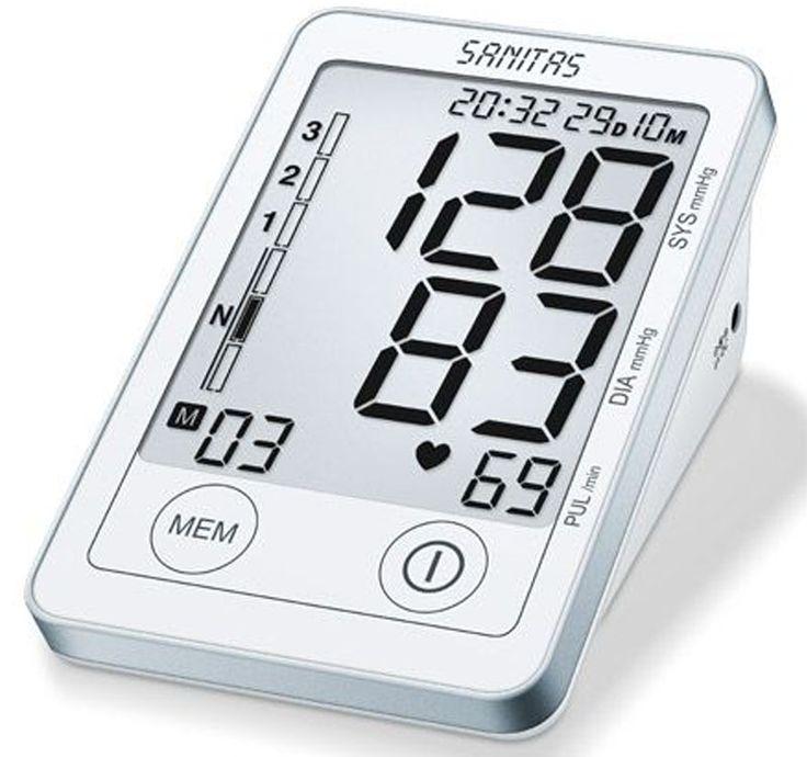 NEU! Aus unserer Top10 Wellness - Platz 6: Sanitas SBM 45 Oberarm-Blutdruckmessgerät