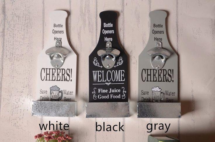 Американский Кантри Творческий Ретро Пива Формы Настенные Открывалка Для Бутылок Старинные Настенные Деревянные Доски Открывалки Для Бутылок Cap Catcher купить на AliExpress