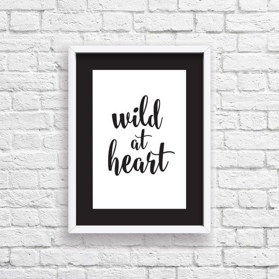 Wild At Heart Digital Download  Monochrome A4 by StaceyLeeLoves