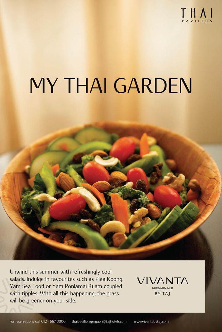 The greens of Thailand have a surprise for you at Thai Pavilion, Vivanta by Taj - Gurgaon this season. Unlock it by calling us on 0124 6673000 #Thai #Food #foodie #Thailand #Cuisine #Asian #VivantabyTaj #Salad #Delhi #Gurgaon #India