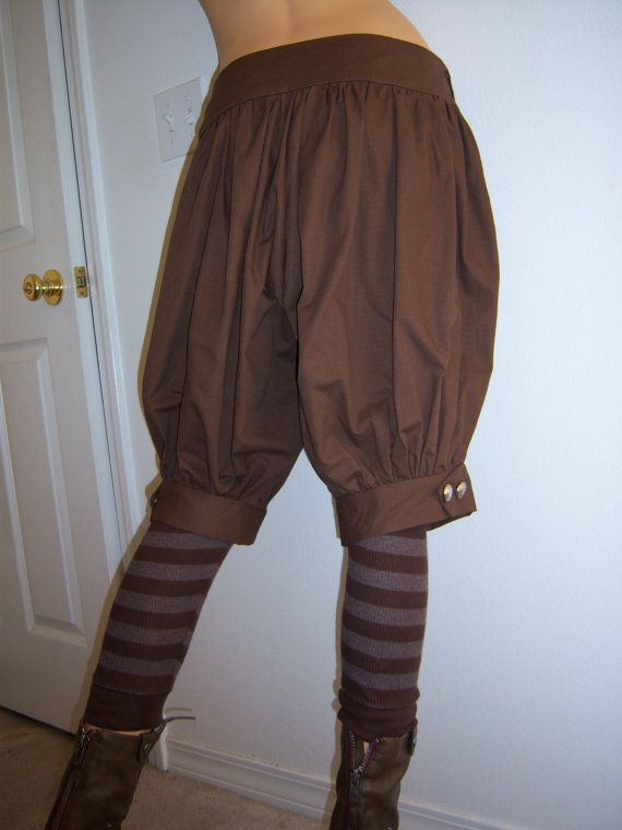 Womens+Steampunk/+Dieselpunk+Bloomers+Shorts+by+Reenacat+on+Etsy,+$48.00