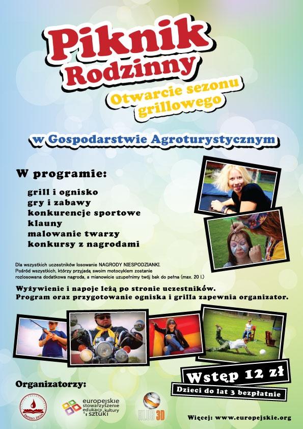 "Plakat ""Piknik Rodzinny"" #poster #design #relax"