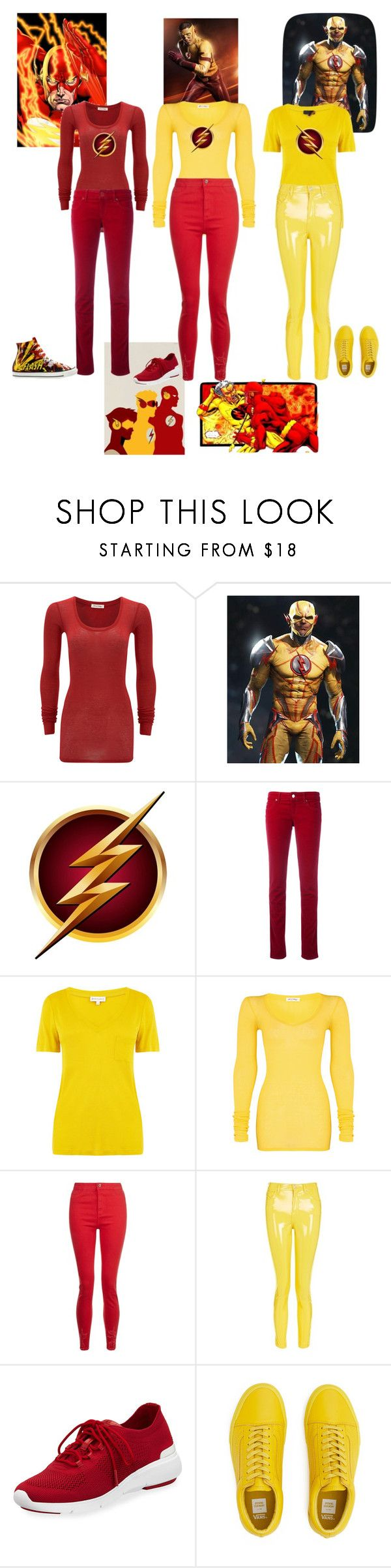"""""""Flash"""" by my-fashion17 ❤ liked on Polyvore featuring American Vintage, Armani Jeans, Warehouse, Converse, Topshop and MICHAEL Michael Kors"""
