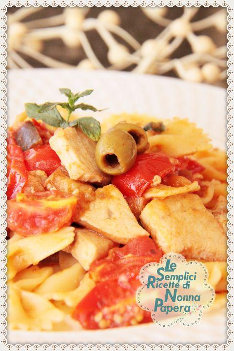 Le semplici ricette di Nonna Papera: FARFALLE CON MELANZANE E PESCE SPADA