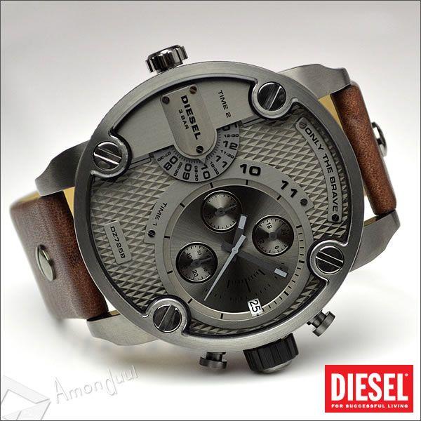 【送料無料】ディーゼル DIESEL 腕時計 メンズ DZ7258 デュアルタイム 牛革レザーベルト メンズ腕時計 時計 リトルダディー 男性用 ディーゼル/DIESEL 人気モデル レア 誕生日プレゼント・クリスマス