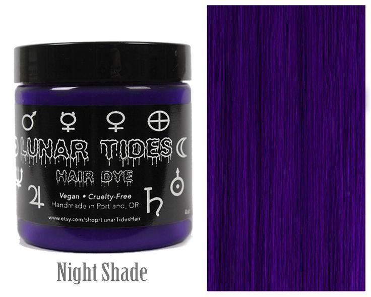 Dark Purple Hair Dye by LunarTidesHair on Etsy https://www.etsy.com/au/listing/281118046/dark-purple-hair-dye