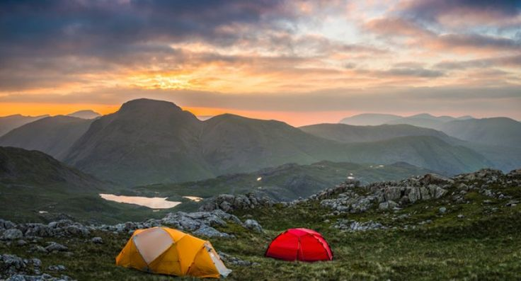 Wild camping in Buttermere, The Lake District