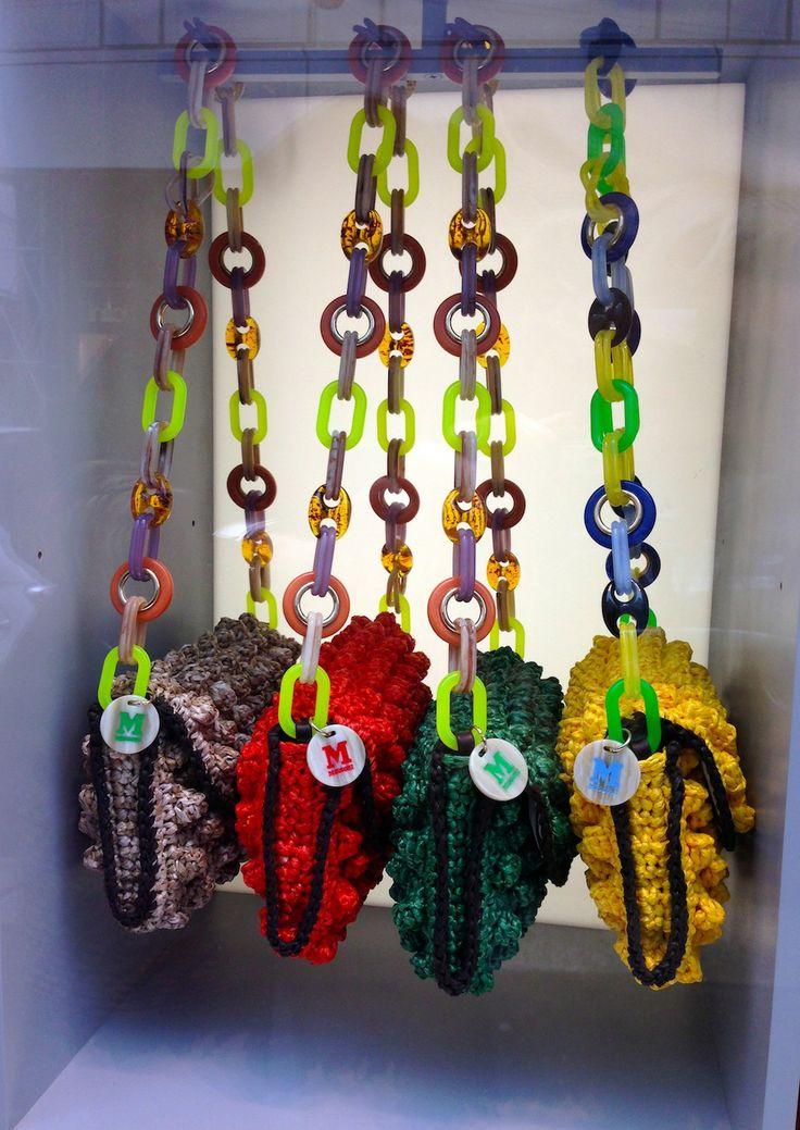 #MMissoni | Summer 2014 #musthave #itbag | #multicolor #raffia effect #bag