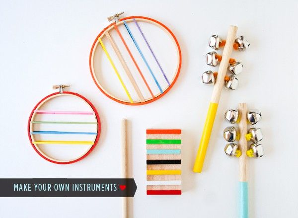 Pin 'Em All: Fun Crafts to Make With Your Kids - Musical Instruments