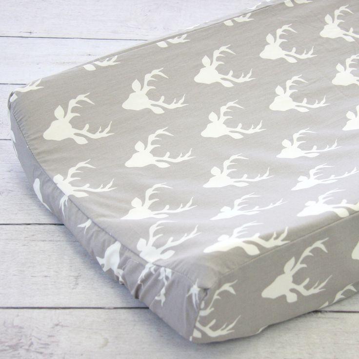 Caden Lane Baby Bedding - Changing Pad Cover - Woodland Deer, $38.00 (http://cadenlane.com/changing-pad-cover-woodland-deer/)