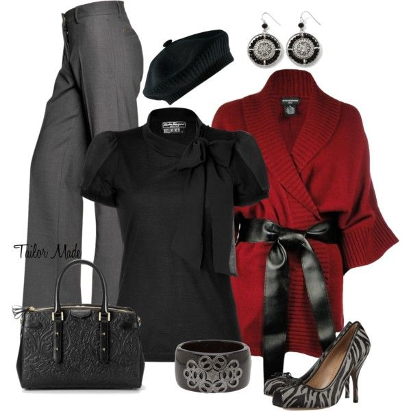 """Business Casual – #5 w/ Kimono Cardigan"" by taliormade on Polyvore"