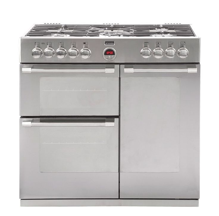 Stoves Sterling 900DFT Stainless Steel 90 Dual Fuel Range Cooker