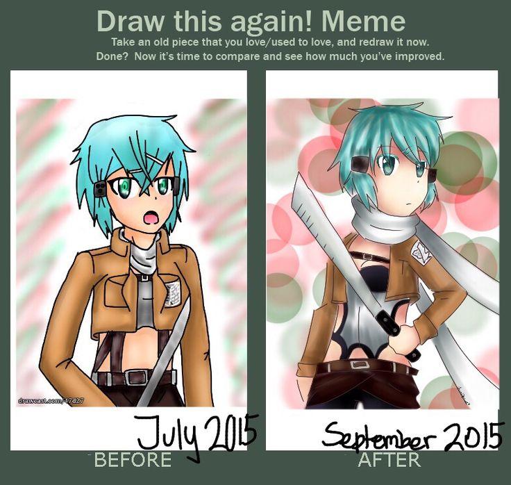 Draw this again! meme sinon