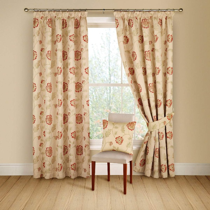 Montgomery Red 'Poppy Trail' Curtains 116CmX137Cm | Curtains | Arnotts