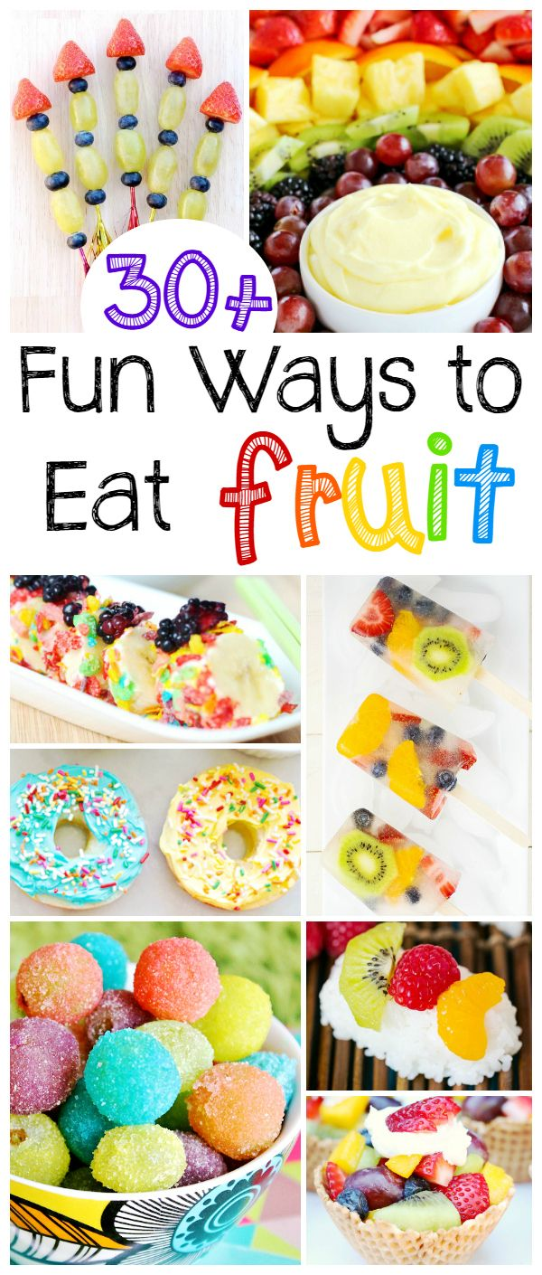 30+ Fun Ways to Eat Fruit - perfect for healthy party food or a healthy afterschool snack. These fresh fruit recipes are fun, colorful and delicious