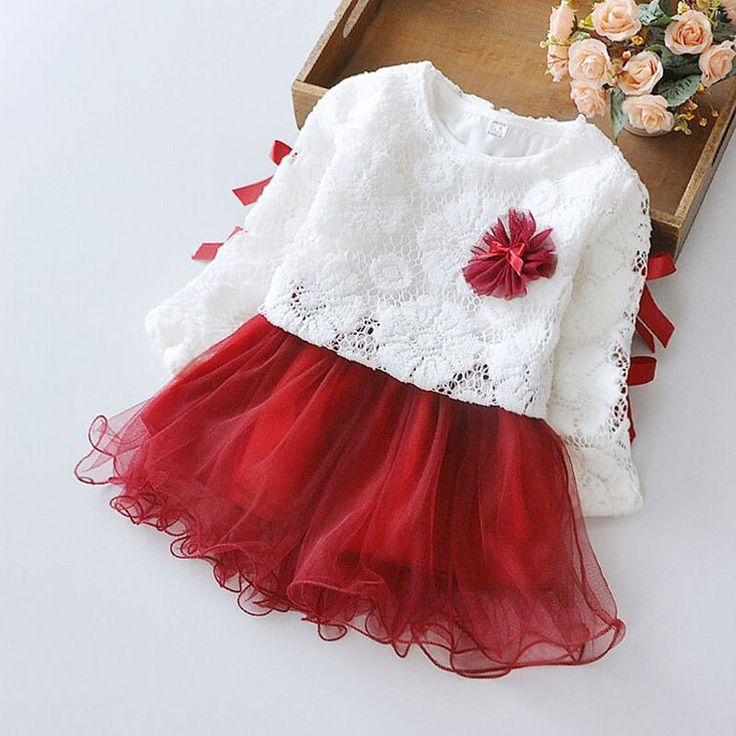 Autumn baby girl Clothes long sleeve Princess party tutu dress for newborn infant baby girls dress clothes vestidos kid clothing