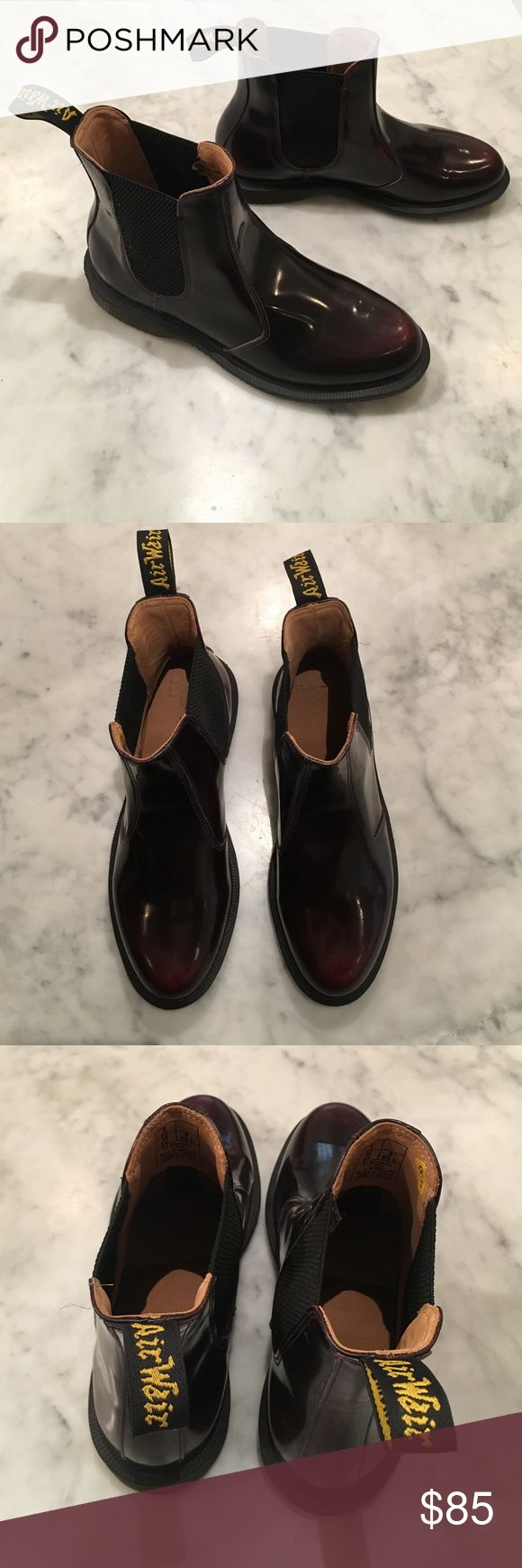 Dr Martens Flora Chelsea Boots Burgundy leather chelsea boots by Dr Martens. Never worn! New without box. Dr. Martens Shoes Ankle Boots & Booties