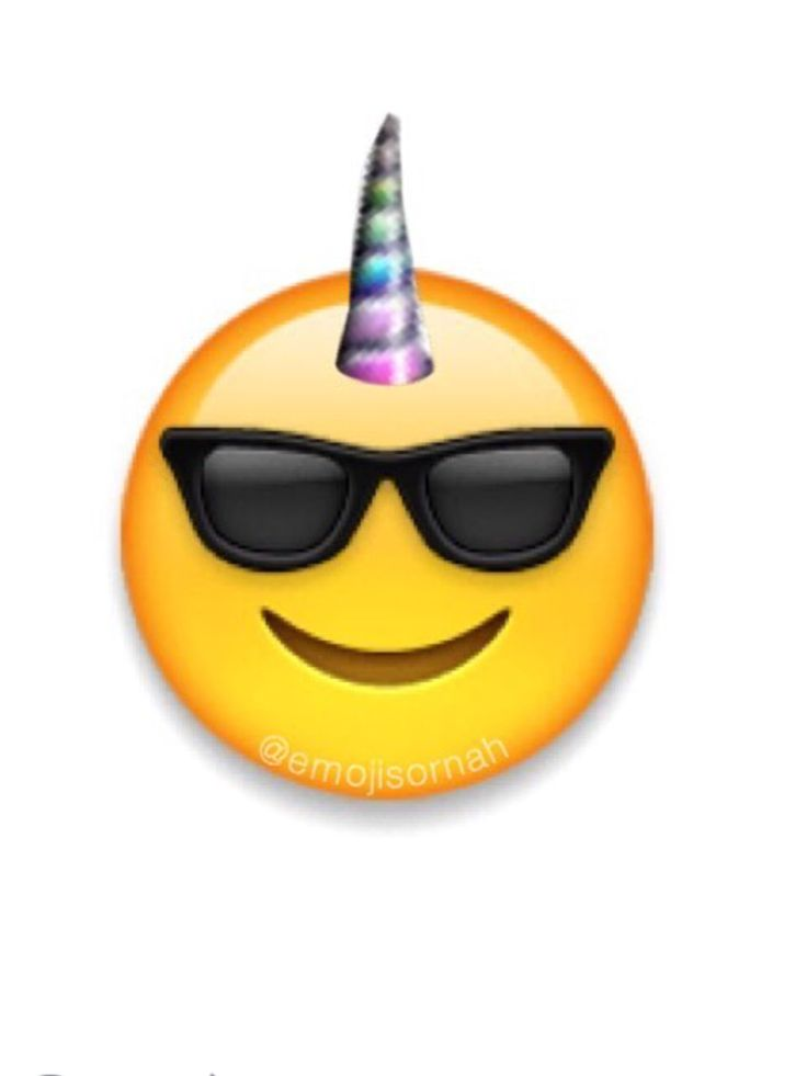 Cool unicorn emoji lol