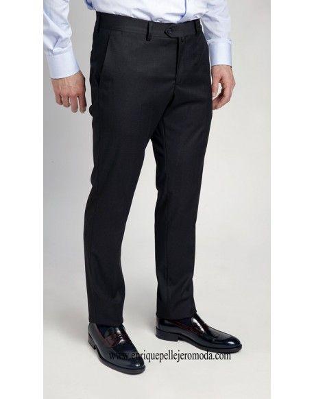 77066e2833 Pertegaz pantalón vestir azul marino Pertegaz pantalón de vestir slim fit  color azul marino liso.