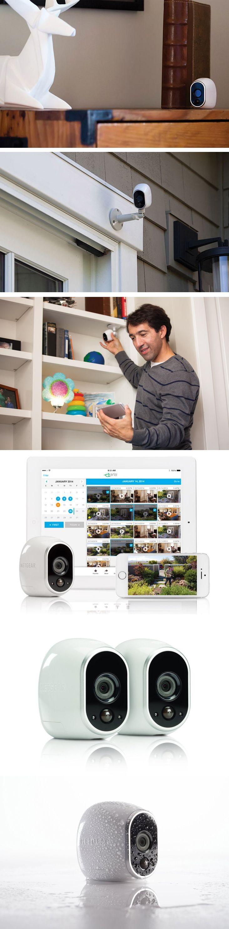 Wireless Security Cameras System: The only 100% wire-free, HD in daylight or darkness smart home security cameras! - www.MyWonderList.com
