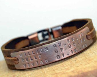 Gepersonaliseerde sieraden voor mannen Mens door echoleathers