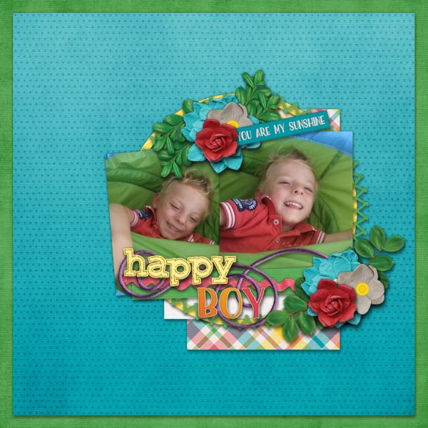 Happy Boy - digital scrapbook layout.    Credits:  Sunshine Bundle by Laurie's Scraps & Designs ** part of the March Buffet at Gingerscraps **  March Template Freebie (facebook) by Laurie's Scraps & Designs    Love the happy colors, and sunny spring kit and the free template.    http://store.gingerscraps.net/Sunshine-Bundle.html
