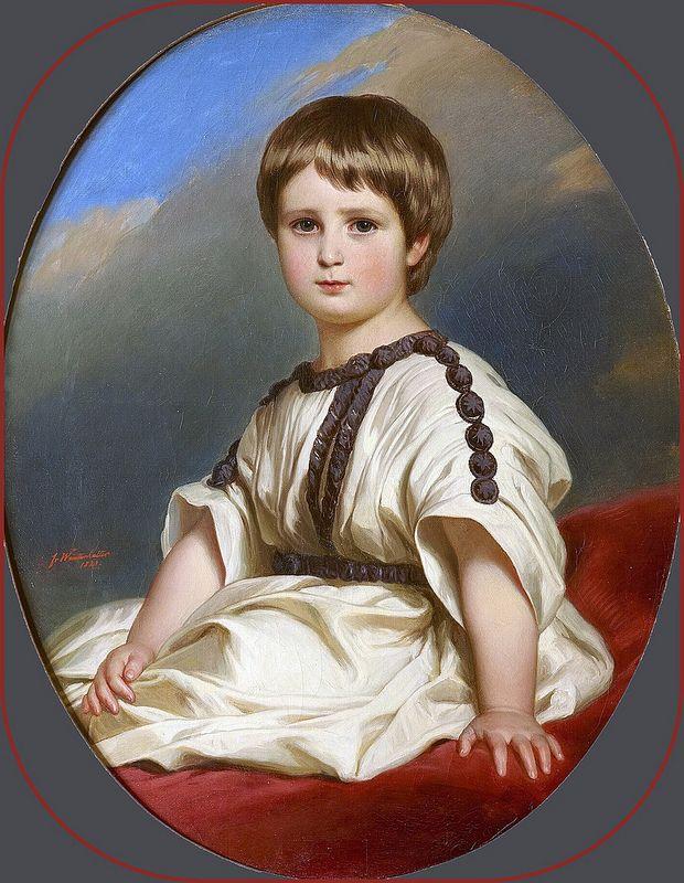 Franz Xavier Winterhalter - Philippe-Alexandre-Marie, duc de Wurtemberg. 1841   da ros_with_a_prince