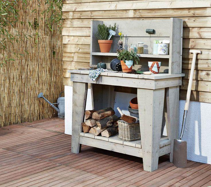 Praxis zelf een oppottafel maken van steigerhout for Tuin praxis