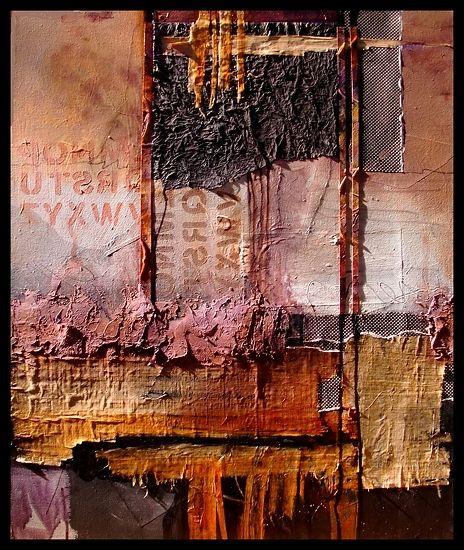 Extraordinary texture! Headlines, 12016 by Carol Nelson mixed media ~ 30 x 24