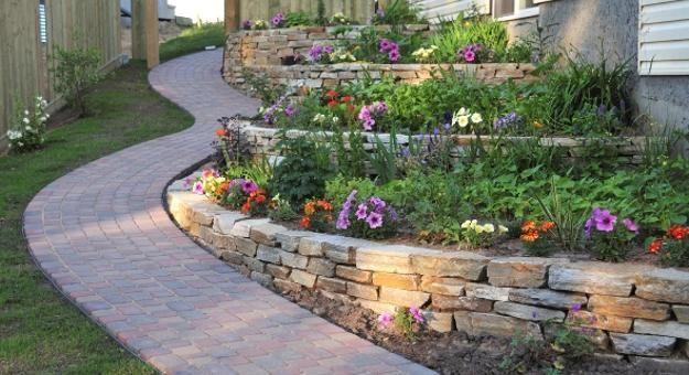 backyard designs with terraces on hill slopes