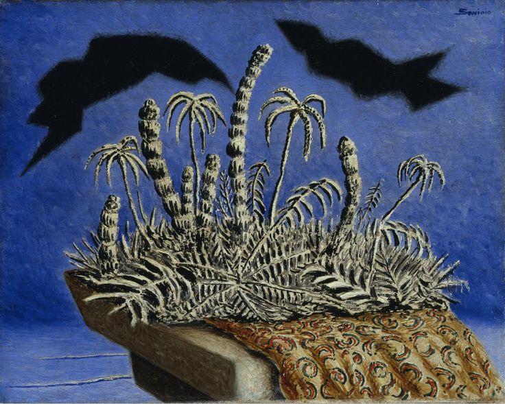 Portable Island by Alberto Savinio (Andrea de Chirico)1933 oil on canvas