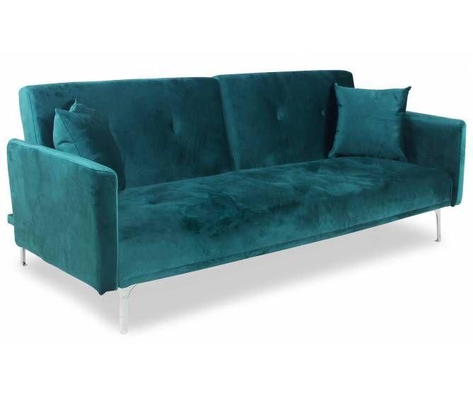 Decouvrez Ce Beau Canape Au Revetement De Velours Vert Ultra Doux Et Confortable Mobilier De Salon Meuble Deco Deco