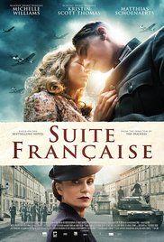 Suite Francaise (2014): Durante los primeros años de la ocupación nazi de Francia en la Segunda Guerra Mundial, las floraciones de romance entre Lucile Angellier (Michelle Williams), una aldeana francesa, y Bruno von Falk (Matthias Schoenaerts), un soldado alemán.