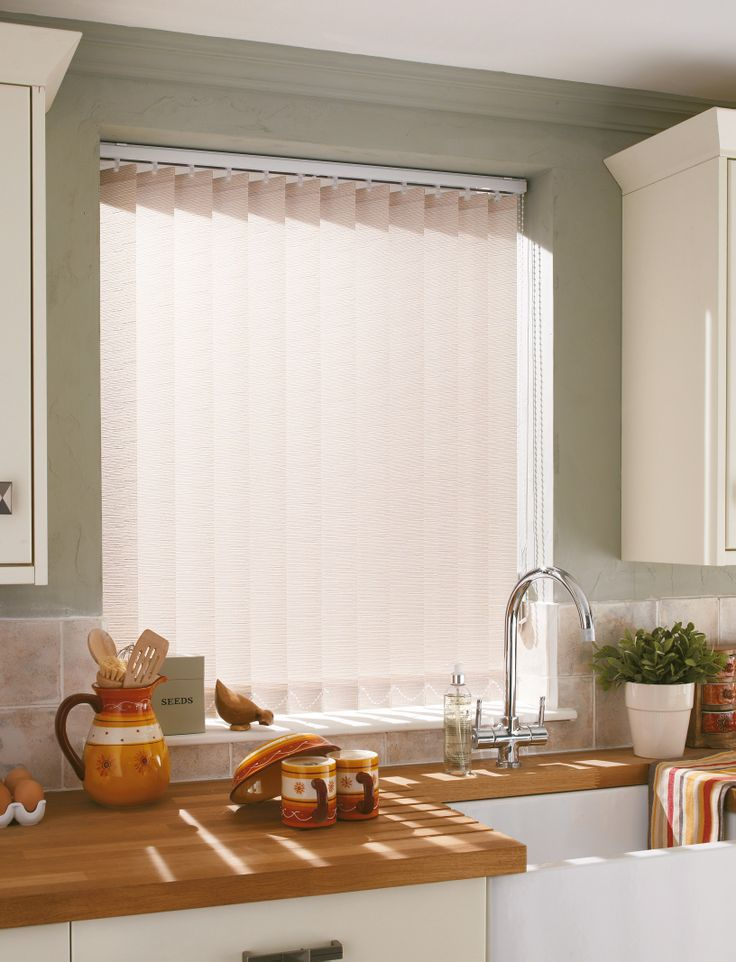 Create a countryside style with our neutral vertical blinds.  #verticalblinds #neutralblinds #home #interiordesign #kitchenblinds Please visit us at www.barnesblinds.co.uk