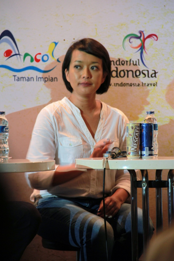 Dewi Gontha hadir sebagai direktur utama Java Festival Production.(Anggra)