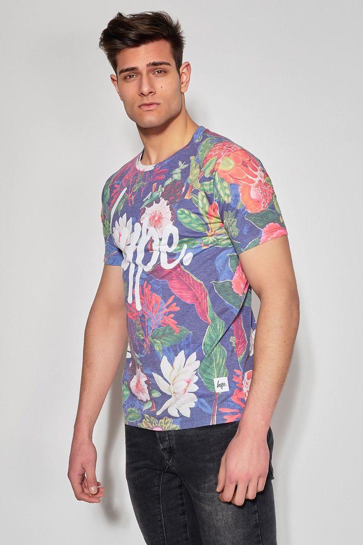 HYPE - JESSIE SCRIPT #Ozonboutique #jessie #script #flowers #tshirt #hype #men #fashion