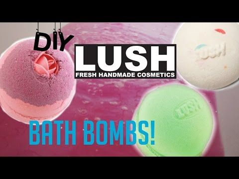 DIY Lush bath bombs WITHOUT citric acid+DEMO! - YouTube